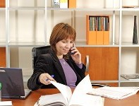 Woman Talking on Phone, Medical Transcriptions & Reports in Tallahassee, FL